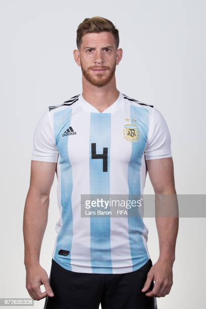 Cristian Ansaldi of Argentina poses for a portrait during the official FIFA World Cup 2018 portrait session on June 12 2018 in Moscow Russia