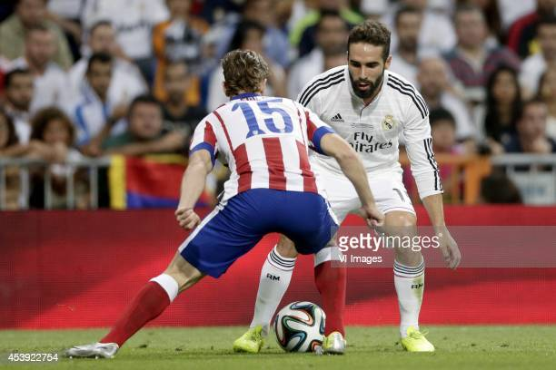 Cristian Ansaldi of Atletico de Madrid Daniel Carvajal of Real Madrid during the Spanisch Super Cup match between Real Madrid and Atletico Madrid at...