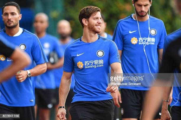 Cristian Ansaldi of FC Inter Milan smiles during a training session of International Champions Cup training session at Bishan Stadium on July 26 2017...