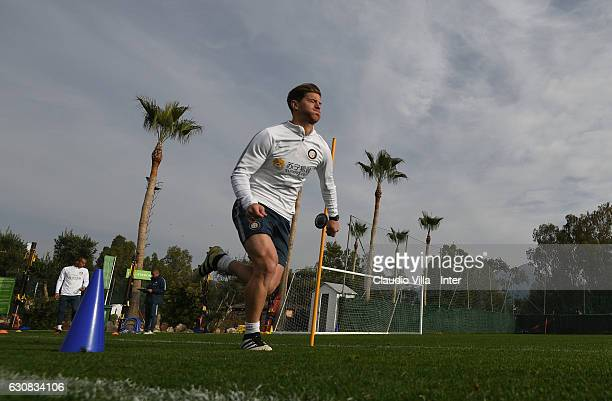 Cristian Ansaldi of FC Internazionale in action during a FC Internazionale training session at Marbella Football Center on January 3 2017 in San...