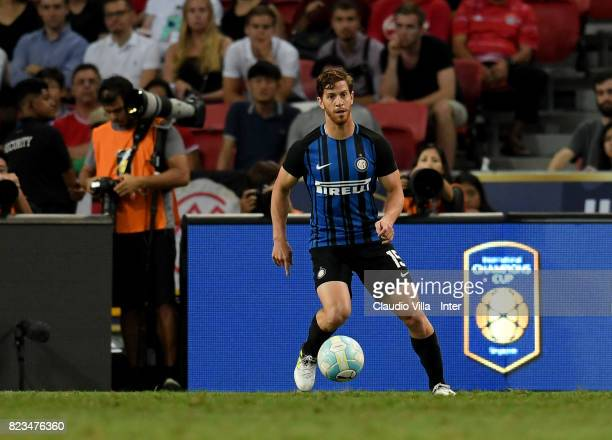 Cristian Ansaldi of FC Internazionale in action during the International Champions Cup match between FC Bayern and FC Internazionale at National...
