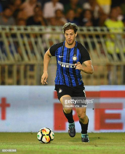 Cristian Ansaldi of FC Internazionale in action during the PreSeason Friendly match between FC Internazionale and Villareal CF at Stadio Riviera...