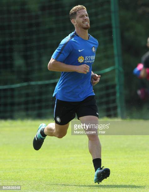 Cristian Ansaldi of FC Internazionale runs during the FC Internazionale training session at the club's training ground Suning Training Center in...