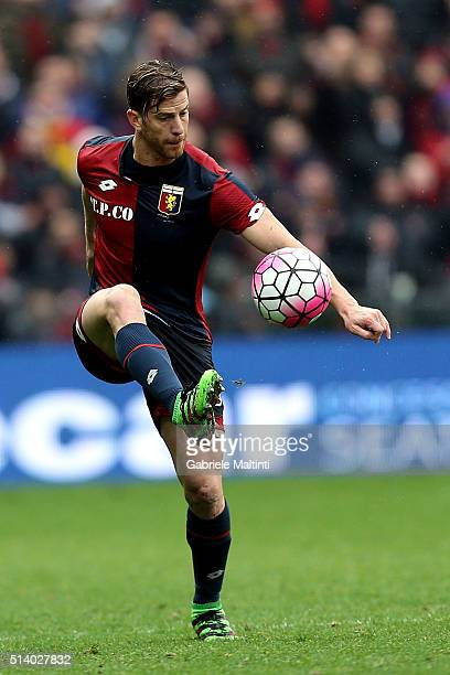 Cristian Ansaldi of Genoa CFC in action during the Serie A match between Genoa CFC and Empoli FC at Stadio Luigi Ferraris on March 6 2016 in Genoa...