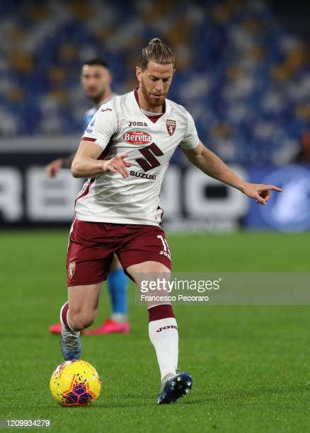 Cristian Ansaldi of Torino FC during the Serie A match between SSC Napoli and Torino FC at Stadio San Paolo on February 29, 2020 in Naples, Italy.