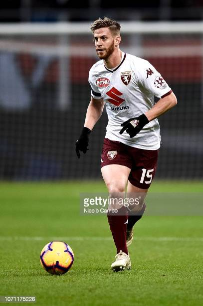Cristian Ansaldi of Torino FC in action during the Serie A football match between AC Milan and Torino FC The match ended in a 00 tie