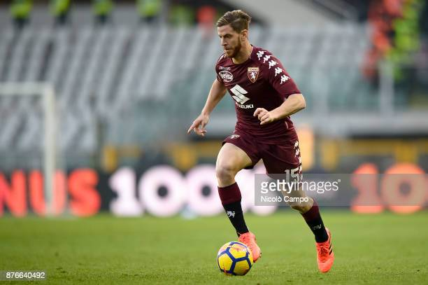 Cristian Ansaldi of Torino FC in action during the Serie A football match between Torino FC and AC ChievoVerona The match ended in a 11 tie