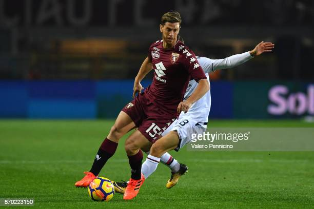 Cristian Ansaldi of Torino FC in action during the Serie A match between Torino FC and Cagliari Calcio at Stadio Olimpico di Torino on October 29...