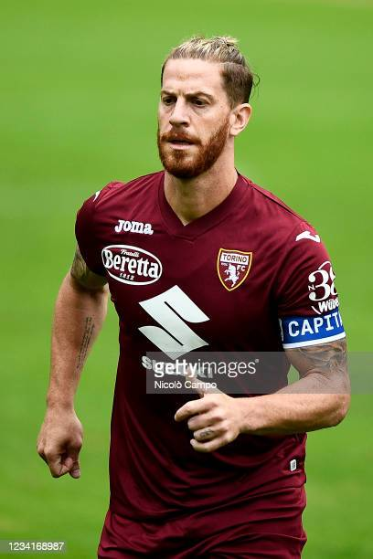 Cristian Ansaldi of Torino FC in action during warmup prior to the pre-season friendly football match between Torino FC and SSV Brixen. Torino FC won...