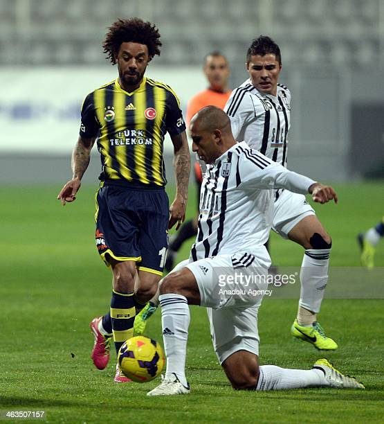 Cristian Baroni of Fenerbahce during Fenerbahce Neftchi Baku match in Antalya on January 18 2014