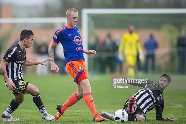 Cristian Benavente of Sporting de Charleroi Lex Immers of Feyenoord Diego Zidda of Sporting de Charleroi during the International friendly match...