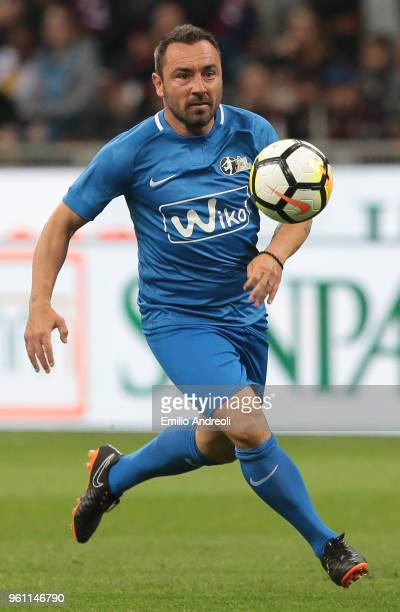 Cristian Brocchi in action during Andrea Pirlo Farewell Match at Stadio Giuseppe Meazza on May 21 2018 in Milan Italy