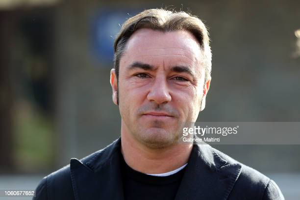 "Cristian Brocchi manager of Monza during the ""Golden Bench"" award at Centro Tecnico Federale di Coverciano on November 12, 2018 in Florence, Italy."