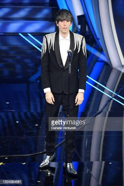 Cristian Bugatti aka Bugo attends the 70° Festival di Sanremo at Teatro Ariston on February 04 2020 in Sanremo Italy