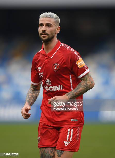 Cristian Buonaiuto of Perugia during the Coppa Italia match between SSC Napoli and Perugia on January 14, 2020 in Naples, Italy.