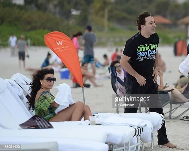 Cristian Castro and his ex wife Valeria Liberman are sighted on April 7 2013 in Miami Beach Florida