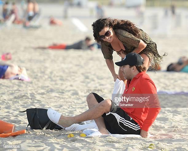 Cristian Castro and Valeria Liberman are sighted on April 6 2013 in Miami Beach Florida