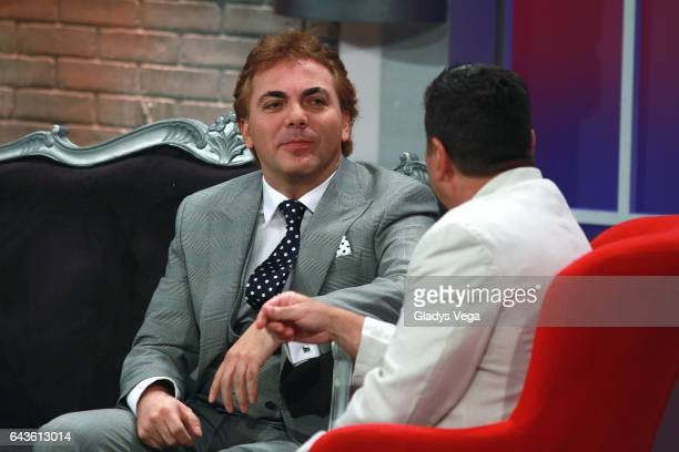 Cristian Castro is interviewed by comedian Raymond Arrieta as part of Raymond Y Sus Amigos show on February 21 2017 in San Juan Puerto Rico