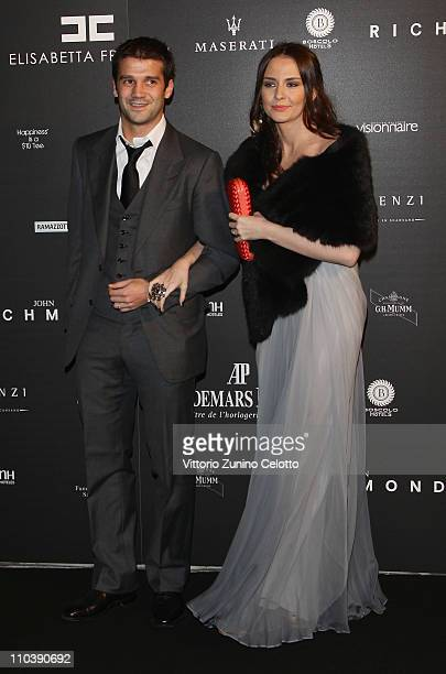 "Cristian Chivu and his wife Adelina attend the ""Fundaction Privada Samuel Eto'o"" Charity Event Red Carpet on March 17, 2011 in Milan, Italy."
