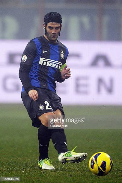 Cristian Chivu of FC Inter Milan during the TIM Cup match between FC Internazionale Milano and Hellas Verona at San Siro Stadium on December 18, 2012...