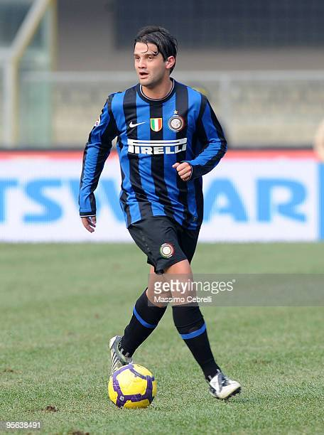 Cristian Chivu of FC Inter Milan in action during the Serie A match between AC Chievo Verona and FC Inter Milan at Stadio Marc'Antonio Bentegodi on...