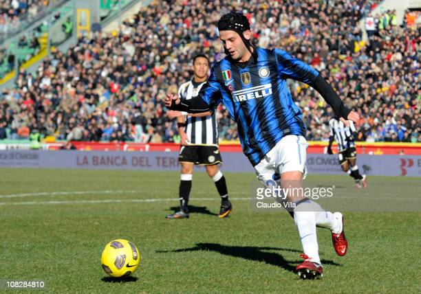 Cristian Chivu of FC Internazionale Milano during the Serie A match between Udinese Calcio and FC Internazionale Milano at Stadio Friuli on January...