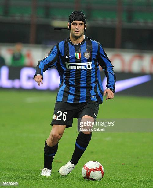 Cristian Chivu of FC Internazionale Milano in action during the Serie A match between FC Internazionale Milano and AS Livorno Calcio at Stadio...