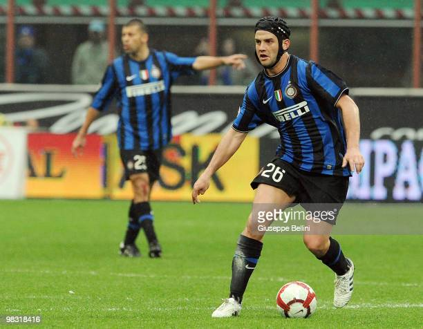 Cristian Chivu of Inter in action during the Serie A match between FC Internazionale Milano and Bologna FC at Stadio Giuseppe Meazza on April 3, 2010...