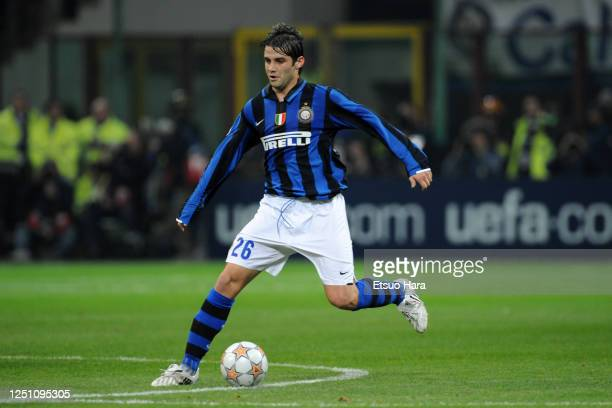 Cristian Chivu of Inter Milan in action during the UEFA Champions League Round of 16 second leg match between Inter Milan and Liverpool at the Stadio...