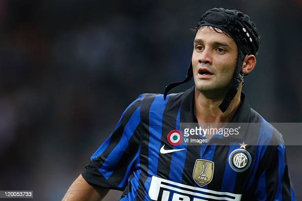 Cristian Chivu of Internazionale in action during the Pre Season Friendly match between FC Internazionale Milano and Galatasaray SK at the...