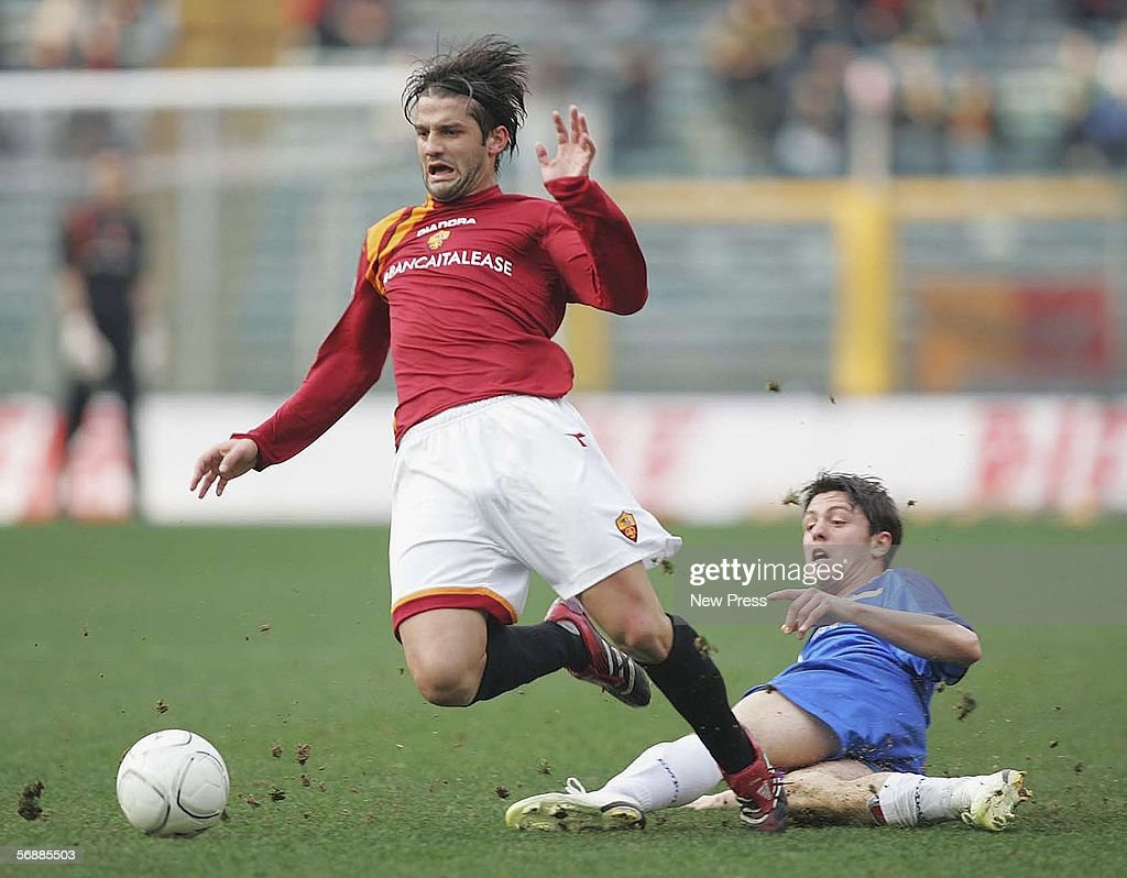 Cristian Chivu of Roma in action during the Serie A match between AS Roma and Empoli at the Stadio Olimpico on February 19, 2005 in Rome, Italy.