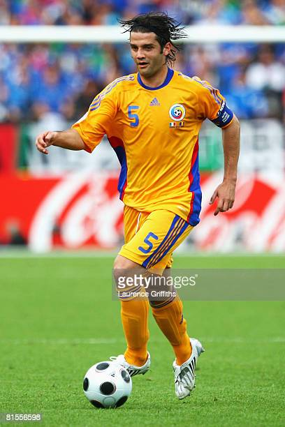 Cristian Chivu of Romania runs with the ball during the UEFA EURO 2008 Group C match between Italy and Romania at Letzigrund Stadion on June 13, 2008...