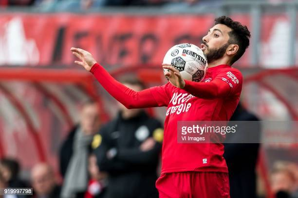Cristian Cuevas of FC Twente during the Dutch Eredivisie match between FC Twente Enschede and Sparta Rotterdam at the Grolsch Veste on February 18...
