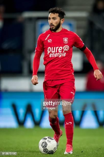 Cristian Cuevas of FC Twente during the Dutch Eredivisie match between sc Heerenveen and FC Twente Enschede at Abe Lenstra Stadium on February 03...