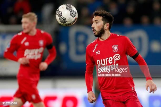 Cristian Cuevas of FC Twente during the Dutch Eredivisie match between SC Heerenveen v Fc Twente at the Abe Lenstra Stadium on February 3 2018 in...