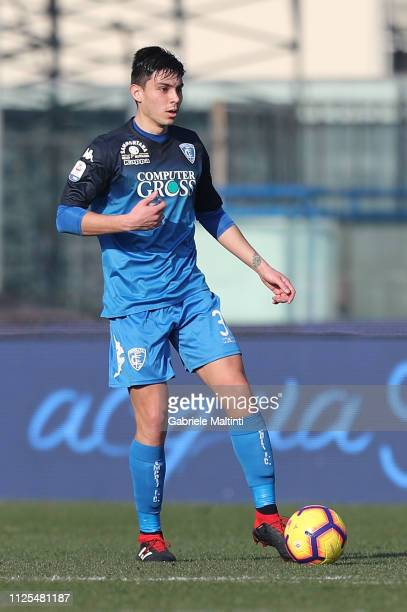 Cristian Dell'Orco of Empoli FC in action during the Serie A match between Empoli and US Sassuolo at Stadio Carlo Castellani on February 17 2019 in...