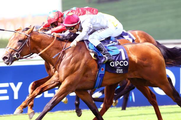 Cristian Demuro Riding Brametot During The Horse Race Prix Du Jockey Club At Hippodrome De Chantilly