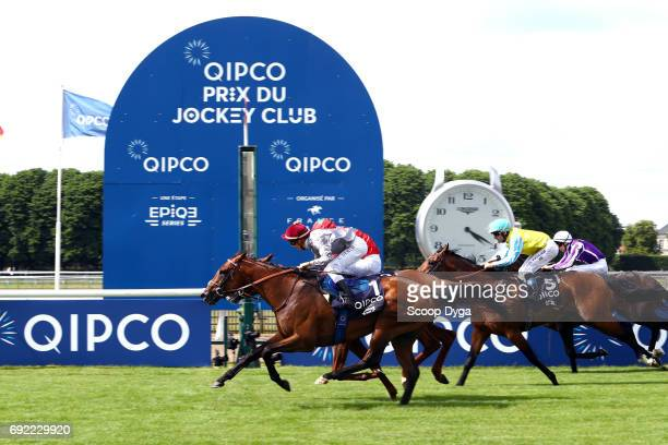 Cristian Demuro riding Brametot during the horse race Prix du Jockey Club at Hippodrome de Chantilly on June 4 2017 in Chantilly France