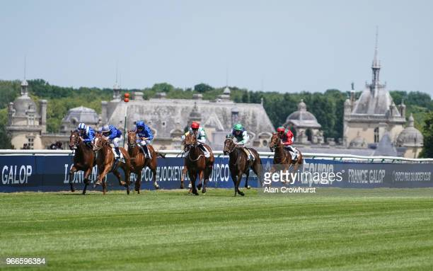 Cristian Demuro riding Mission Impossible win The Prix de Sandringham during the Prix du Jockey Club meeting at Hippodrome de Chantilly on June 3...