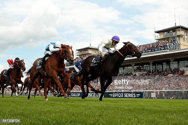 Cristian Demuro wins with La Cressonniere during the Prix de Diane Longines on June 19 2016 in Chantilly France