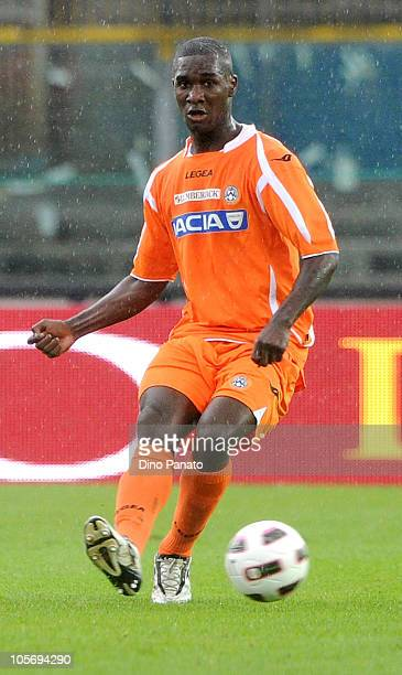 Cristian Edoardo Zapata of Udinese in action during the Serie A match between Brescia Calcio and Udinese Calcio at Mario Rigamonti Stadium on October...