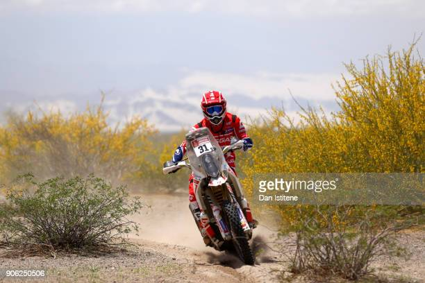 Cristian Espana Munoz of Andorra and Gas Gas Motorsport rides a GasGas bike in the Classe 21 Super Production during stage eleven of the 2018 Dakar...