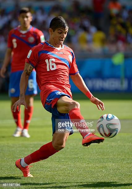 Cristian Gamboa in action for Costa Rica during the 2014 FIFA World Cup Brazil Group D match between Costa Rica and England at Estadio Mineirao on...