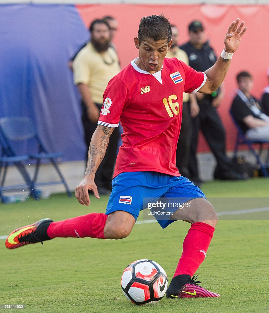 Cristian Gamboa (#16) of Costa Rica drives the ball at the group A match between Costa Rica and Paraguay at Camping World Stadium as part of Copa America Centenario US 2016 on June 04, 2016 in Orlando, Florida, US.