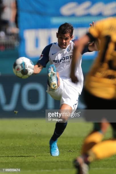 Cristian Gamboa of VfL Bochum controls the ball during the Second Bundesliga match between VfL Bochum 1848 and SG Dynamo Dresden at Vonovia...