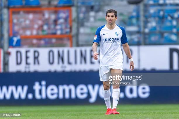 Cristian Gamboa of VfL Bochum looks dejected after the Second Bundesliga match between VfL Bochum 1848 and SV Sandhausen at Vonovia Ruhrstadion on...