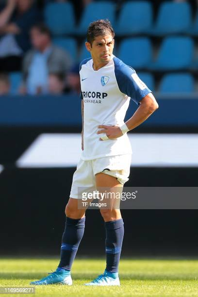Cristian Gamboa of VfL Bochum looks on during the Second Bundesliga match between VfL Bochum 1848 and SG Dynamo Dresden at Vonovia Ruhrstadion on...