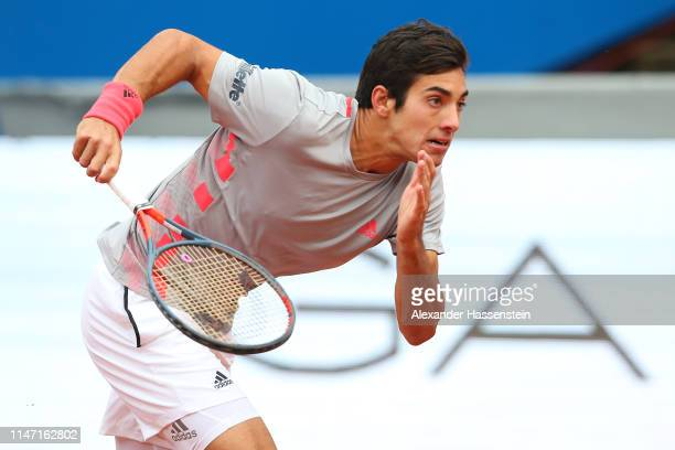 Cristian Garin of Chile runs during his final match against Matteao Berrettini of Italy on day 9 of the BMW Open at MTTC IPHITOS on May 05 2019 in...
