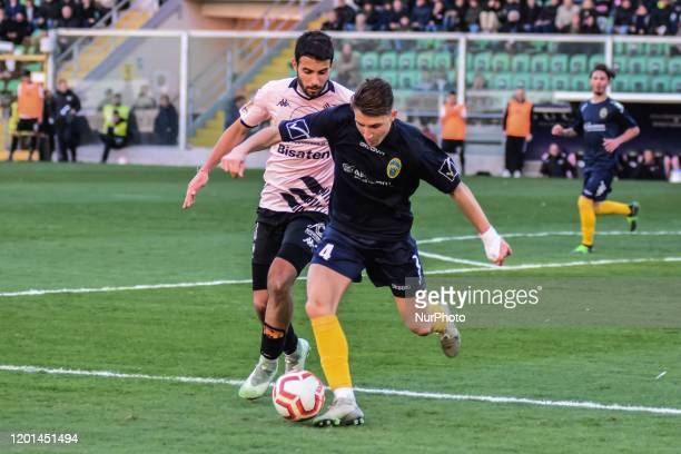 Cristian Langella during the serie D match between SSD Palermo and ASD Biancavilla at Stadio Renzo Barbera on February 16, 2020 in Palermo, Italy.