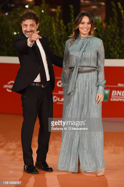 Cristian Marazziti and Marisela Bodan attend the red carpet of the movie Romulus during the 15th Rome Film Festival on October 23 2020 in Rome Italy